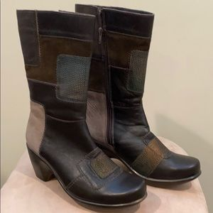 """Naot """"Paradise"""" Smooth & Suede Leather mid-calf"""